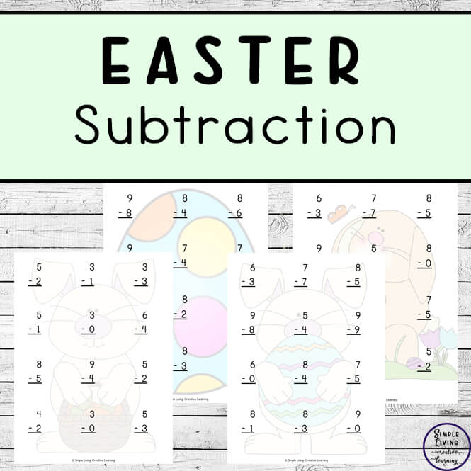Easter Subtraction Pages