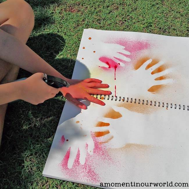 Get creative while learning about Aboriginal Rock Art. Create your own amazing Aboriginal Hand Stencil with spray paint and paper.