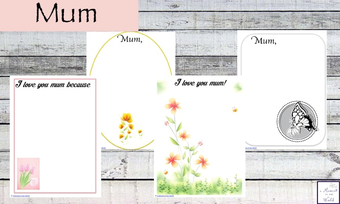 Mother's Day is such a great day. I have created these gorgeous All About My Fum Printable for kids to fill in and pass onto their mother's / grandma's this Mother's Day.
