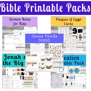 Massive List of Bible Printable Packs for Kids