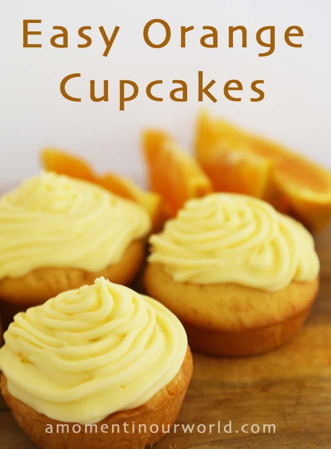 Easy Orange Cupcakes