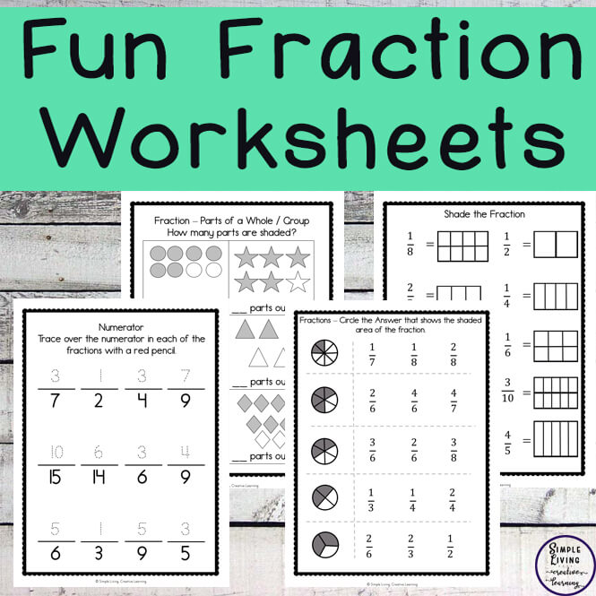 This Fun Fraction Worksheet pack is not only great for those just starting out with fractions, but is also great for those who need more practice or need to review their fractions.