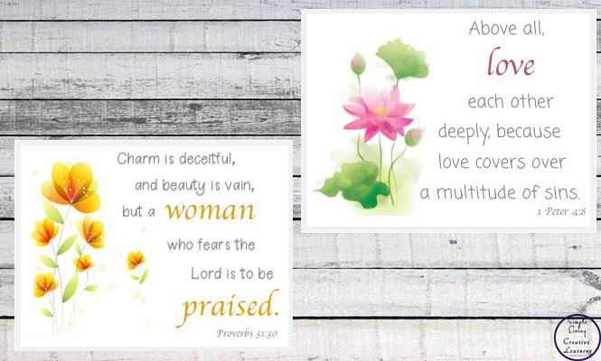 These Scripture Cards for Mothers are a great source of encouragement, and also make great presents.
