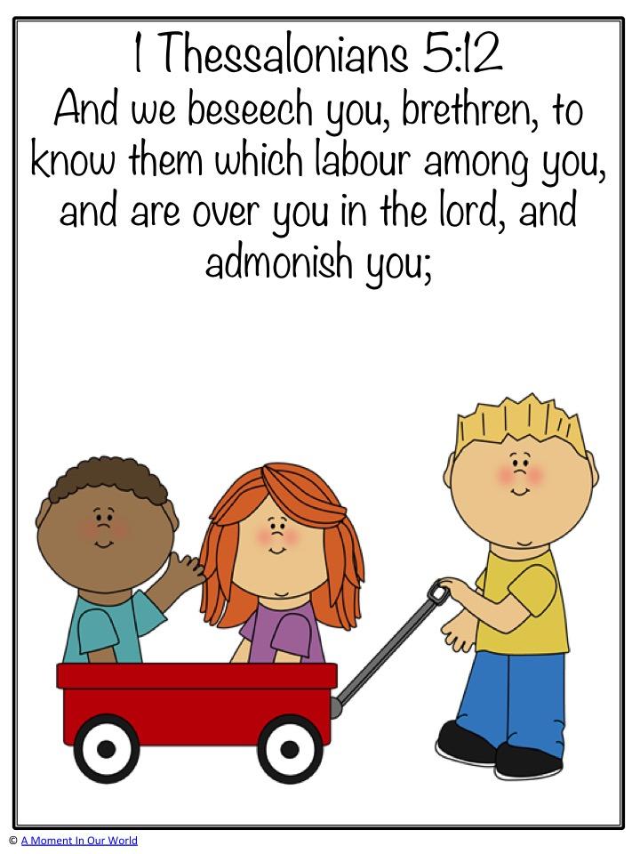 Monday Memory Verse: 1 Thessalonians 5:12