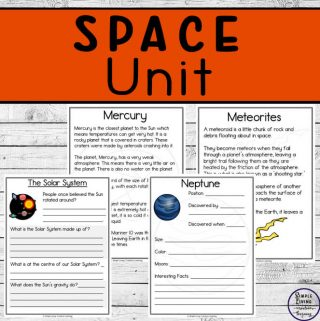 While completing this massive 150+page Space Unit, children will learn about the Solar System, Planets, Moon, Sun and many other objects found in Space.
