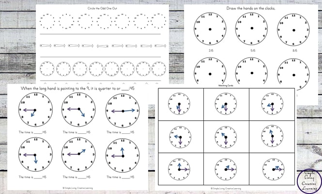 This Telling the Time Printable Pack is a great way to introduce children to a clock and the basics of telling the time.