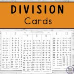 To help children learn and memorise division, these division cards are easy to prepare and are great to have to hand.
