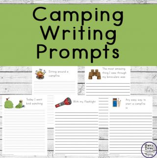 These camping writing prompt pages will allow them to write down their fun camping adventures, creating a memorable book of their camping trip.