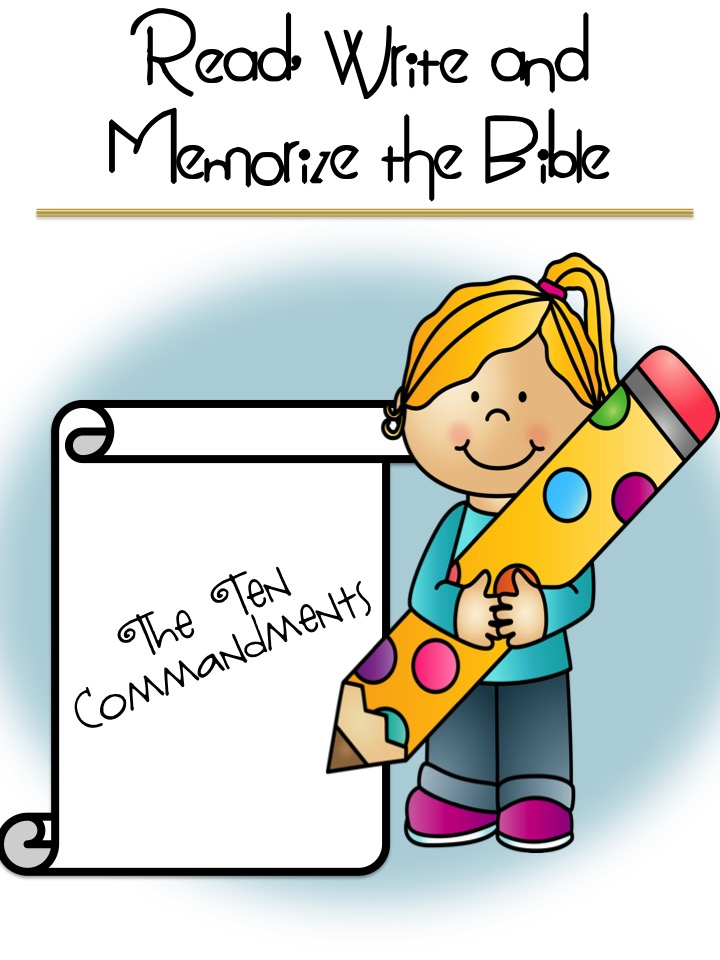 The 10 Commandments - Read, Write, Memorise