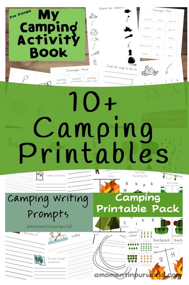 10+ Camping Printables