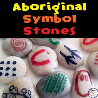These Aboriginal Symbol Stones can be used in many ways for our boys to find out about the history of the the Aboriginal people.