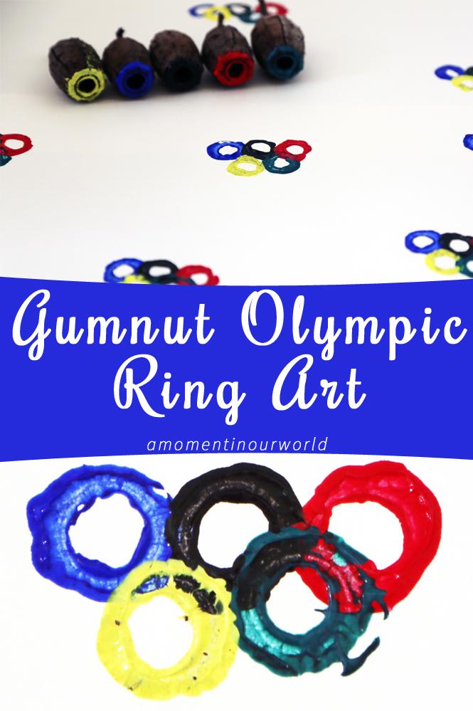 Gumnut Olympic Ring Art