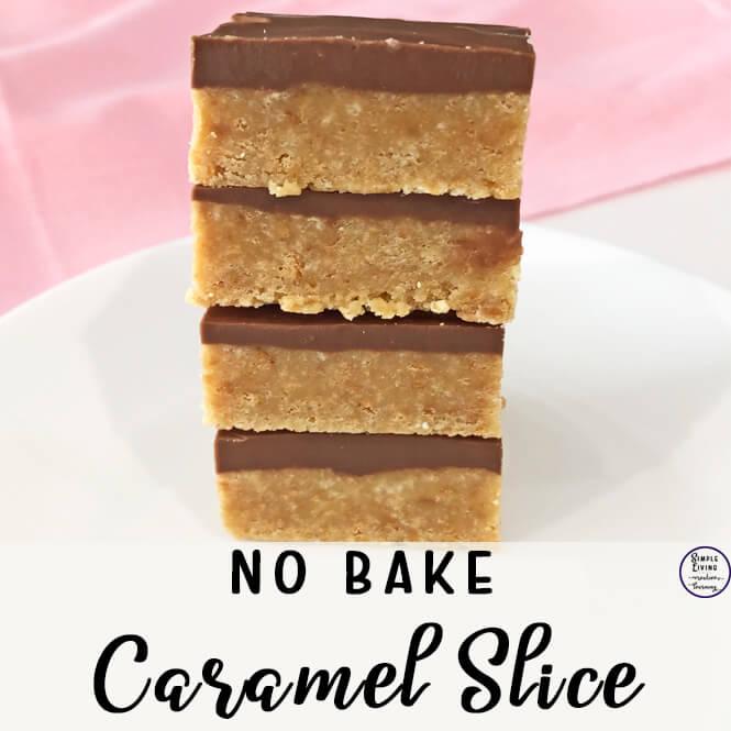 No Bake Caramel Slice