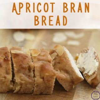 This is a lovely, easy to make Apricot bran Bread recipe that freezes well for school and work lunches.