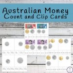 Australian Money Count and Clip Cards