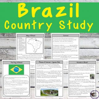 This Brazil Country Study is a great way for kids to learn more about this country and the amazing Amazon River and Rainforest.