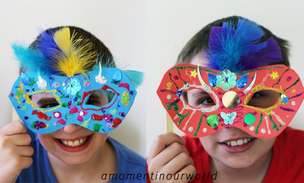 make a brazilian carnival mask simple living creative learning