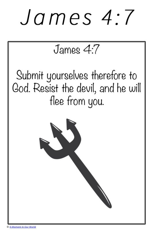 Monday Memory Verse: James 4:7 - Simple Living  Creative