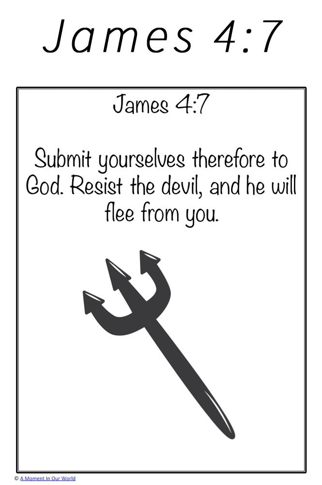 Monday Memory Verse: James 4:7