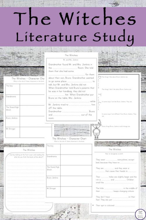 This Witches Literature Study is aimed at children in grades 2 to 4 & goes well with the book by Roald Dahl. It is also on video!