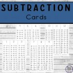 Subtraction Cards