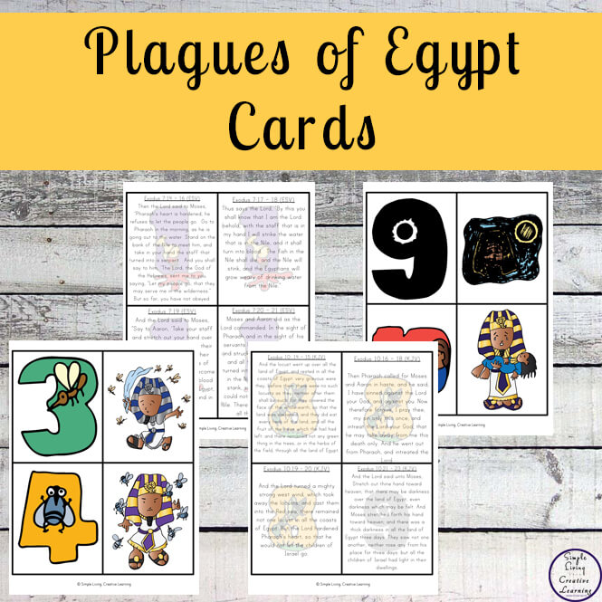 A great way to learn about the 10 Plagues of Egypt is with these cards, colouring pages and puppets.