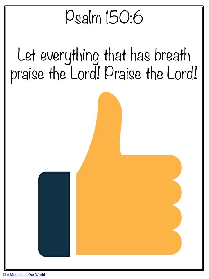 Monday Memory Verse: Psalm 150:6