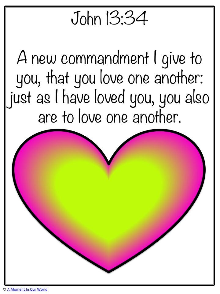 Monday Memory Verse: John 13:34