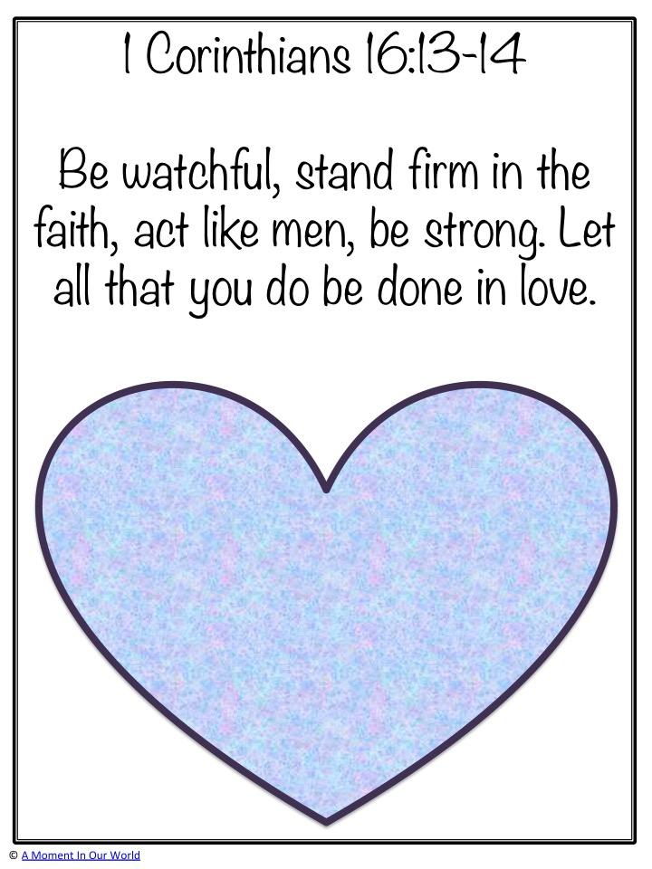 Monday Memory Verse: 1 Corinthians 16:13-14