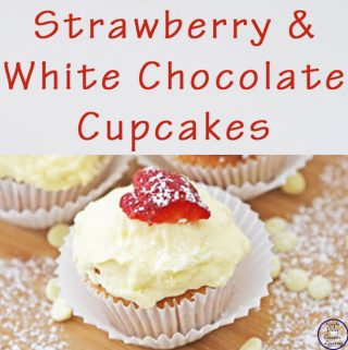 I purchased a carton of strawberries, so I decided to make some strawberry and white chocolate cupcakes. They are just divine!