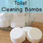 These toilet cleaning bombs are great natural alternative for a quick & easy way to keep our toilets clean. Just pop them in, wait, give the toilet a quick scrub & flush!