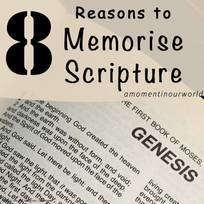 8 Reasons to Memorise Scripture