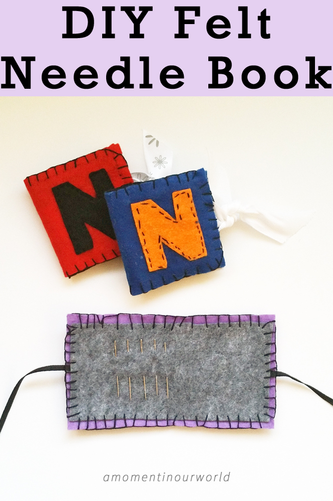 DIY Felt Needle Book {from The Little House in the Big Woods}