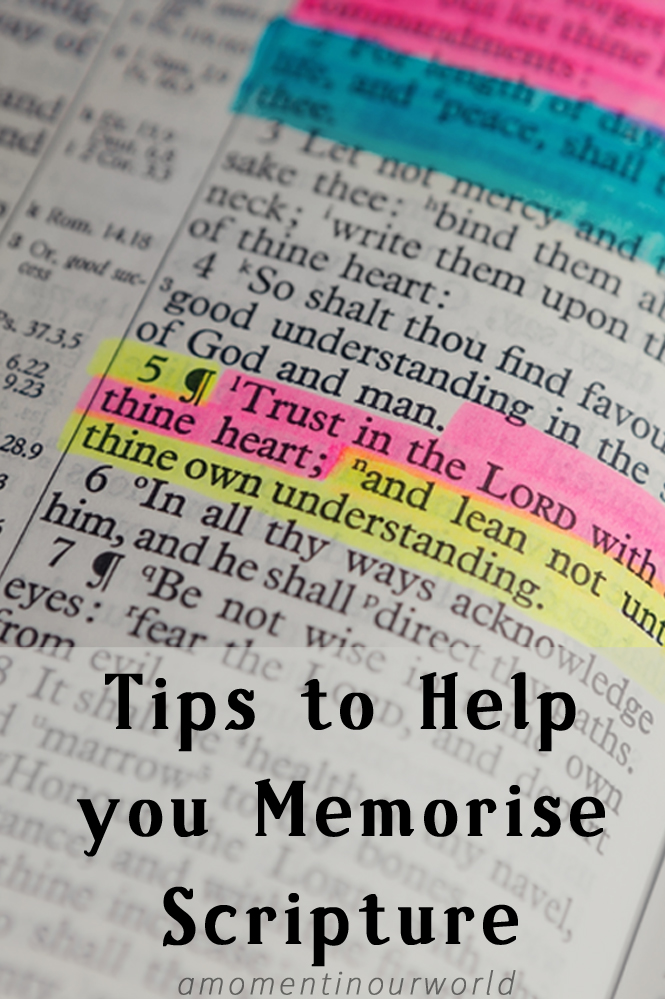 Tips To Help you Memorise Scripture