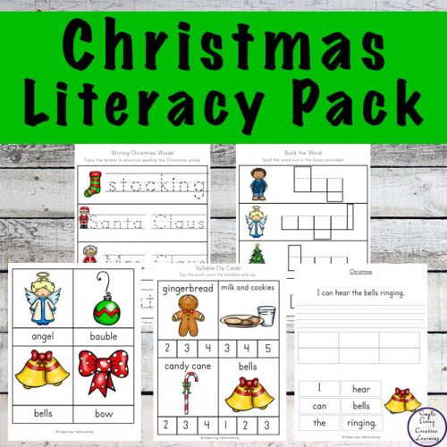 This Christmas Literacy Pack is great for kids in kindergarten through to grade 2 to help them build their literacy skills.
