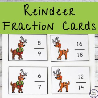 A fun way to learn and revise fractions this festive season is with these Reindeer Fraction Cards.