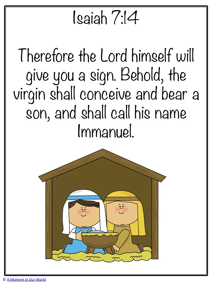 Monday Memory Verse: Isaiah 7:14