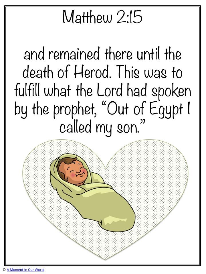 Monday Memory Verse: Matthew 2:15