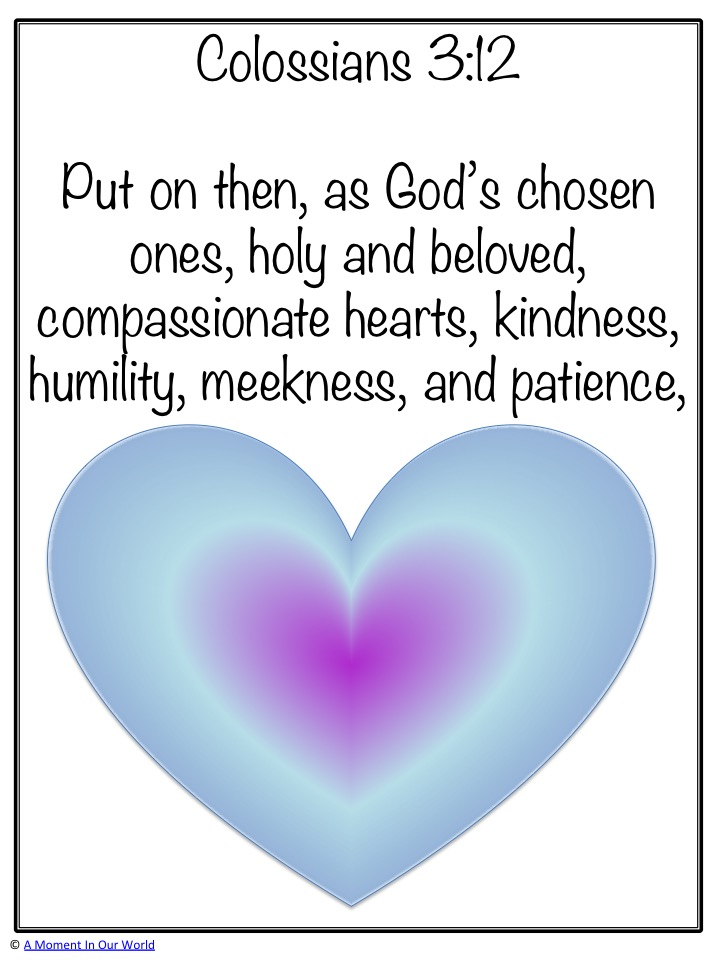 Monday Memory Verse: Colossians 3:12