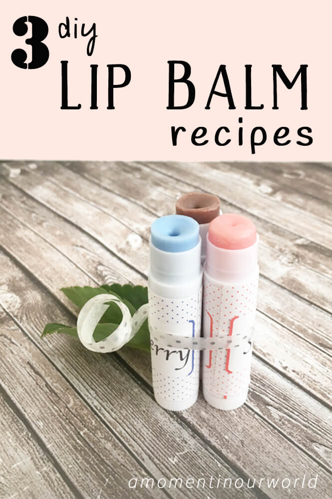 3 DIY lip balm recipes that are easy to make and would make great presents.