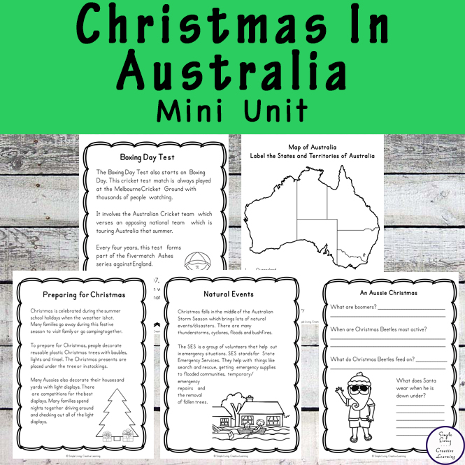 Learn more about how Christmas is celebrated in Australia with this Christmas in Australia Mini Unit.
