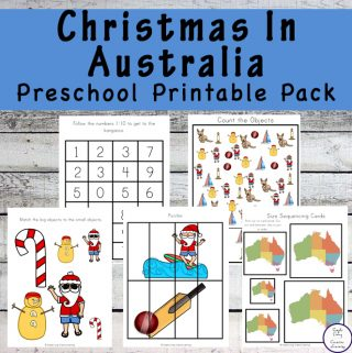 Learn more about how Christmas is celebrated in Australia with this Christmas in Australia Preschool Printable Pack.