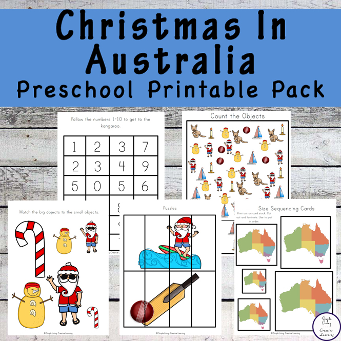 Christmas in Australia Preschool Printable Pack