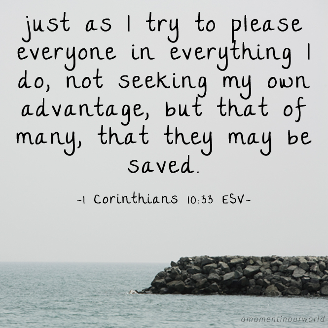 Monday Memory Verse Printable Pack: Corinthians 10:33
