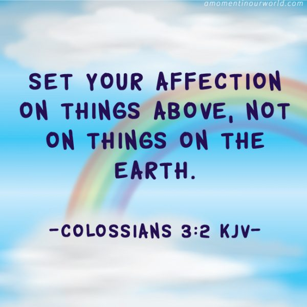 Monday Memory Verse Printable Pack: Colossians 3:2