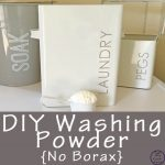 This DIY Washing Powder is easy to make and contains essential oils and no borax.