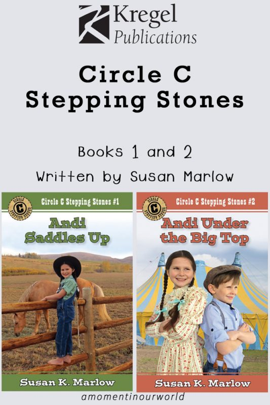 Circle C Stepping Stones first two books; Andi Saddles Up and Andi Under the Big Top.