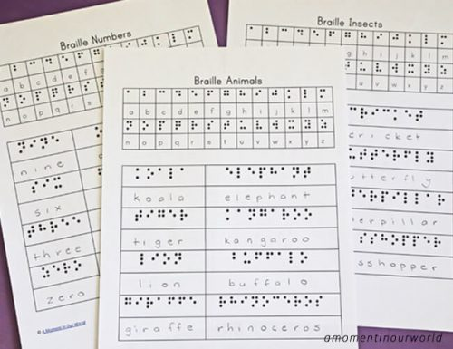 ThisBraille Learning Pack will help your children learn more about this six raised dot system that was invented in 1821 by a French schoolboy Louis Braille.