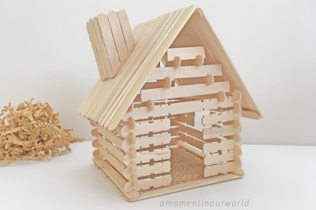 Build a log cabin like the ones the Pioneer families lived in. Goes well with the Little House books.