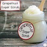 This Grapefruit Sugar Scrub is an easy to make luxurious scrub!